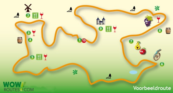Routes Ezelroute - E-bike - hele dag
